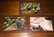 "Job lot/bundle of Knor Pictures 5"" X 7"" Olives Coffee Beans"