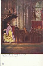 "Song Postcard - Illustrated Songs - ""The Lost Chord"" - Seated at Organ   V1876"