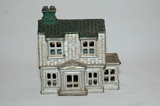 """Cast Iron """"Colonial House With Porch (Large)"""" Building Still Bank Made By A.C. W"""