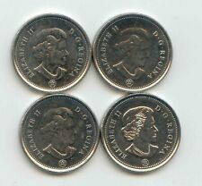 Canada 2011 2012 2013 2014 Canadian Nickel 5c Five Cent Piece 5 Cents EXACT SET