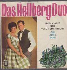 """7"""" Das Hellberg Duo Glückklee und Vergissmeinnicht / Ein altes Paar 60`s Odeon"""