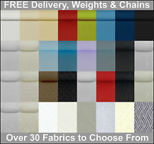 Plain or Patterned Replacement Vertical Blind Slats + Free Weights & Chains**
