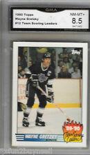 1990-91 Topps 12 Team Scoring Leader Wayne Gretzky Kings GRADED GMA 8.5 NM MT+