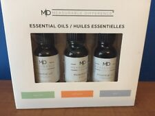 Measurable Difference MD 3pc Essential Oil Set Lot Cedar wood Ginger Eucalyptus
