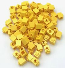Lego 100 New Yellow Bricks Modified 1 x 1 with Stud on 1 Side Pieces