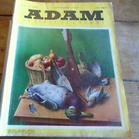 ADAM la revue de l'homme Sept 1954 HOF magnum et poudre progressive Henriot mode