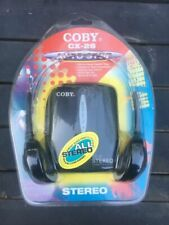 Coby CX-26 Stereo Cassette Player Factory Sealed w/Headphones