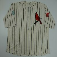 St Louis Cardinals SGA Baseball Jersey Men's Size XL Vintage Style Pin Strip
