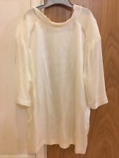 Jigsaw Size S White 100% Silk & Contrast Cotton Top