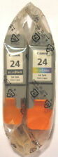 Canon BCI-24 Genuine Black & Colour Cartridges. 2 Pack.