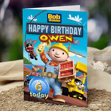 EXTRA LARGE Bob The Builder  **Personalised A4 Birthday Card** Any name/age