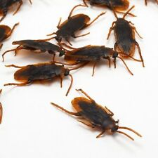 36pcs REALISTIC FAKE COCKROACHES LARGE CREEPY COCK ROACH BUGS PRANK GAG GIFT US