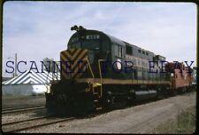 May 90 Detroit & Mackinac #281 at Durand Michigan VINTAGE 35MM SLIDE Railroad