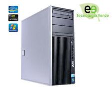 Workstation HP Z400 Intel Quad-Core Xeon W3530 2.8 Ghz 6 Gb 500 Gb DVD-Rw W7 Pro