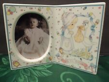"""Precious Moments """"JOY ON ARRIVAL"""" New Baby Gift Picture Frame Baby Shower 1991"""
