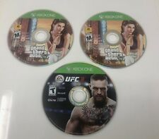 Lot of Three XBOX ONE Video Games - Grand Theft Auto 5, UFC3
