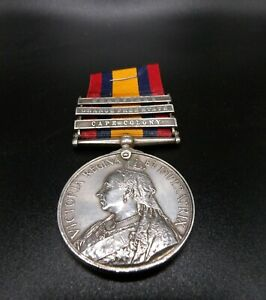 Queens South Africa Medal with Three Bars