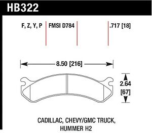 Hawk Performance HB322Z.717 Stable Friction Output Disc Brake Pads