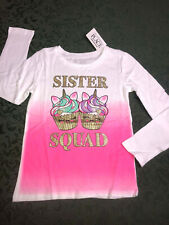NWt sister Squad unicorn cupcakes shirt birthday new baby 4 5 6 7 8 10 12 14 16