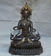 "19.2"" Old Tibet Buddhism Bronze Gilt Gem Vajrasattva Vajrasattra Buddha Statue"