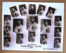 1934 Detroit Base-Ball Club Team 8 x 10 Black & White Photo -Cochrane, Greenberg
