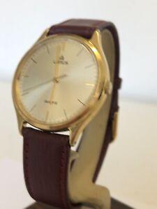 Lorus Quartz Y-131 Gents Dress Watch With New Burgundy Leather Strap