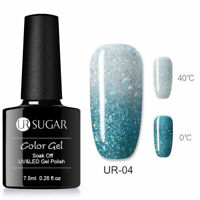 UR SUGAR 7.5ml Thermal Gel Polish Color Changing Soak Off UV Gel Nail Varnish #4
