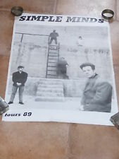 SIMPLE MINDS - TOUR 89 !!!! MEGA RARE FRENCH POSTER!!65 x 91 CM!!!!!!!!!!!