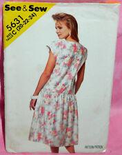 Uncut Butterick Sz 20-24 Easy Dropped Waist Dirndle Skirt Dress Pattern 5631