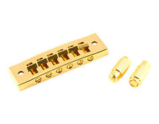 Kluson Harmonica Steel Bridge, Gold With Brass Saddles - Khbsg