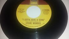 STEVIE WONDER I Gotta Have A Song / Heaven Help Us All TAMLA 54200 45