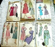 New Listing Vintage Sewing Pattern Lot 6,Larger Sizes, 36/38/40/43 Bust/40's/50'/60's