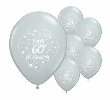 "10 x 60th DIAMOND ANNIVERSARY 12"" HELIUM QUALITY PEARLISED BALLOONS (PA)"