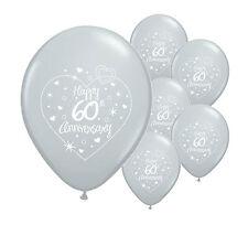 """10 x 60th Diamond Anniversary 12"""" Qualità Elio Palloncini MADREPERLATA (PA)"""