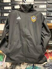 Adidas La Galaxy Black Windbreaker 19/20 Waterproof Hoodie LE Size mans L  Only
