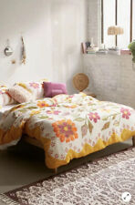 NEW Urban Outfitters UO Delia Folk Floral Gauze Duvet Cover