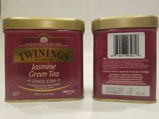 2 x  Twinings Jasmine Green Loose Tea Tin - 3.53oz (100g)