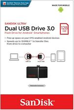 SanDisk 128GB OTG Ultra Dual Micro USB 3.0 Flash Drive SDDD2-128G for Android