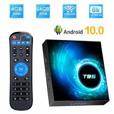 T95 Smart TV BOX 6K HD 4+32/64/128G Android 10.0 Dual WiFi 64Bit Media Streamer