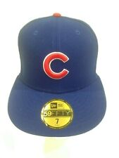 06a9eb8b2edcb Chicago Cubs New Era 59Fifty Post Season 2016 Patch Fitted Hat Size 7 Blue