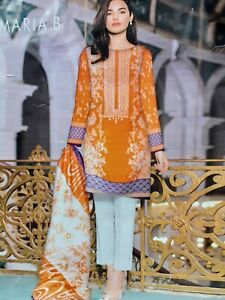 MARIA B KHADDAR DESIGNER 3 PCS SUIT WITH WOOL SHAWL STITCHED EMBROIDERED