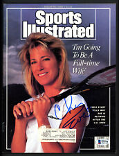 Chris Evert Autographed Signed Sports Illustrated Magazine Beckett BAS #S76754