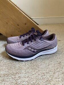 Pre-Owned Saucony Women's Ride 13 Trainers/Shoes Purple UK Sz. 8