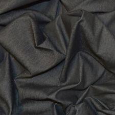 8oz LIGHT WEIGHT STRETCH BLACK DENIM COTTON ELASTANE JEANS FABRIC BY THE METRE