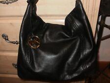 Michael Kors Black, Soft Leather Handbag with Gold  Trim