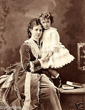 1870- Nicholas II of Russia as a Child with His Mother Maria Feodorovna