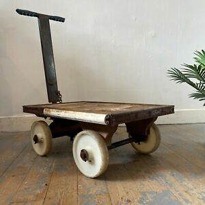 Vintage Pull Along Cart / Trolley
