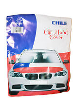 CHILE COUNTRY FLAG CAR HOOD COVER .. HIGH QUALITY ..  NEW