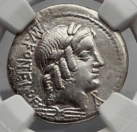 Roman Republic 85BC Vejovis Genius Goat Amaltheia Ancient Silver Coin NGC i59948