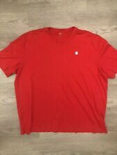 Apple Mens Long Sleeve Red T Shirt Tee Sz 2XL Embroidered Apple Logo